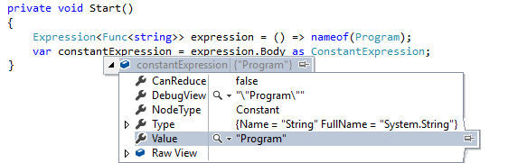 C# 6 Nameof expression example
