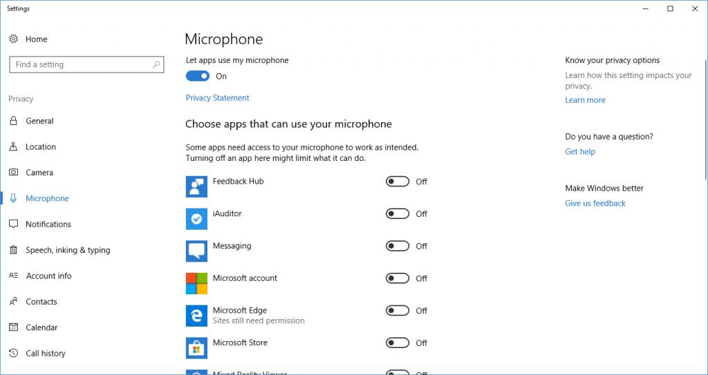 Opening Windows Settings via a URI